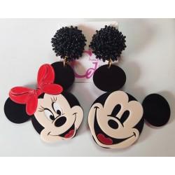 Pendientes Mickey y Minnie
