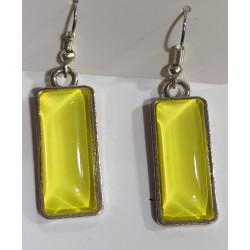 Pendientes cristal amarillo