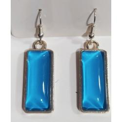 Pendientes cristal azul claro