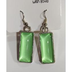 Pendientes cristal verde claro