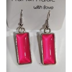 Pendientes cristal rosa