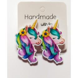 Pendientes unicornios
