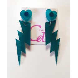Pendientes rayo frosted