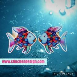 Pendientes pez colores