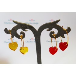 Mini aros dorado corazon