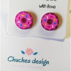 Pendientes mini donuts