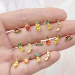 Pendientes mini frutas