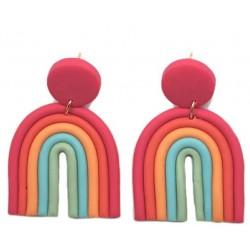Pendientes arco iris arcilla