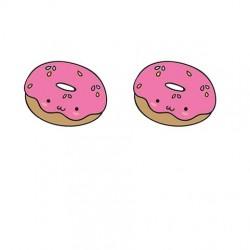 Pendientes mini donuts resina