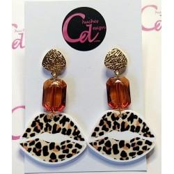 Pendientes besos de leopardo