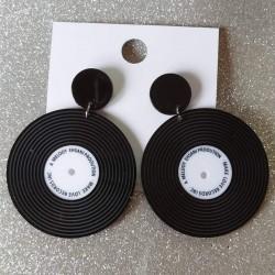 Pendientes disco vinilo