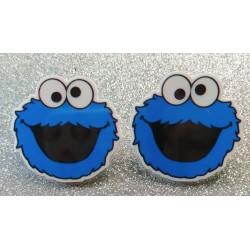 Pendientes cookie monster