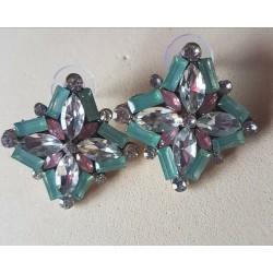 Pendientes cristal tallado