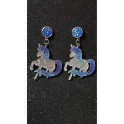 Pendientes unicornio glitter